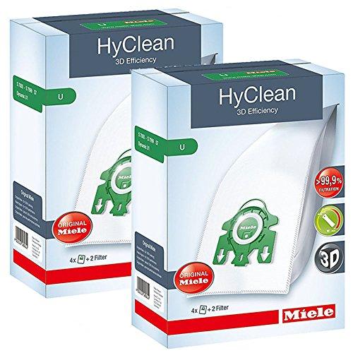1U Typ 3D HyClean Staubsaugerbeutel & Filter Kit (8Stück) ()
