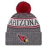 New Era Arizona Cardinals Beanie NFL 2018 Sideline Sport Graphite Knit Scarlet/Grey - One-Size