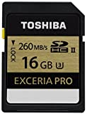 Toshiba 16GB SDHC Exceria PRO UHS - II Class 3 Memory Card With Read Speed 260MB/s & Write Speed 240MB/s