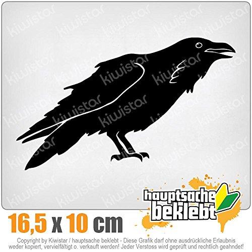 KIWISTAR Rabe Krähen Corvus 16,5 x 10 cm IN 15 FARBEN - Neon + Chrom! Sticker Aufkleber -