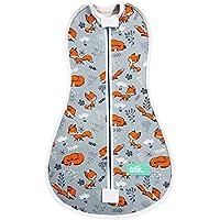 Tulik Baby Swaddle per neonato tuta con cerniera per bambini e neonati (0–3mesi) (Sleepyfox)