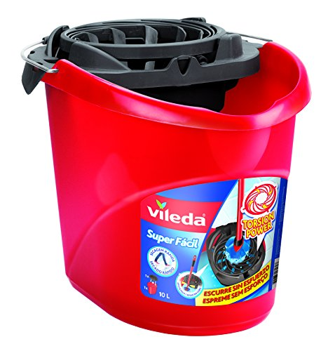 Vileda - Cubo Superfácil Torsion Power, color rojo