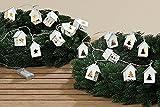8 LEDs Lichterkette für Kranz batteriebetrieben Warmweiss Weihnachtsbeleuchtung Weihnachten (Tannenbaumhaus)