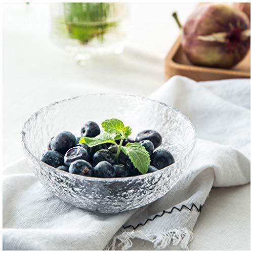YYF Bol en verre glacé - Salade/Fruit/Dessert 4,5 à 9,5 pouces (Taille : 11.6cm)