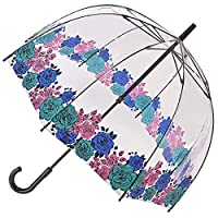 Fulton Birdcage Clear Dome Umbrella - Moody Rose