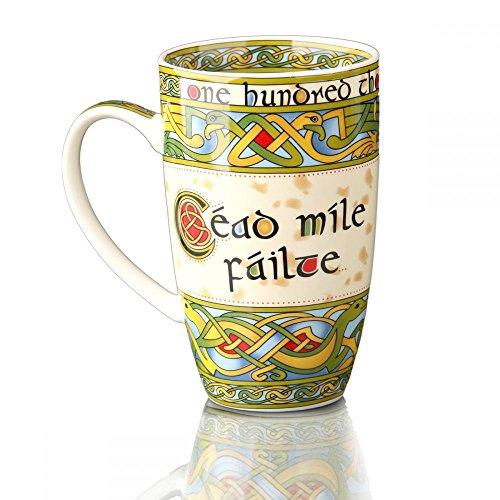 Eburya Cead Mile Failte - tausendfach Willkommen - Keltischer Kaffeebecher aus Irland
