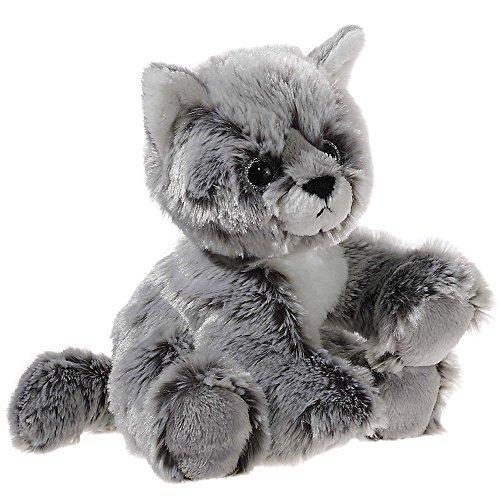 schtier - Glitter-Kitty Katzen-Baby graumeliert, 20 cm (Kitty Plüschtiere)