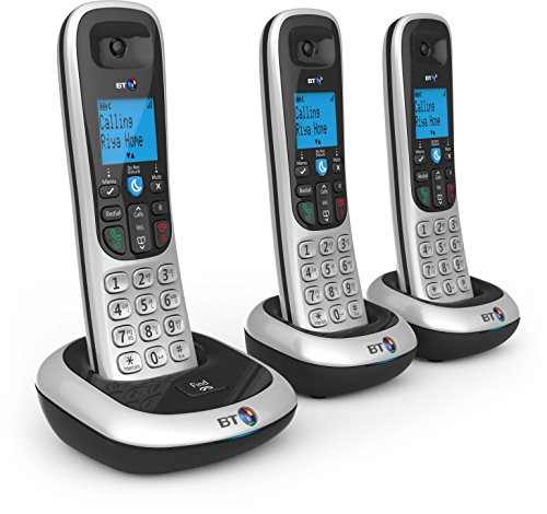 BT 2200 Nuisance Call Blocker Cordless Home Phone - Trio Handset Pack