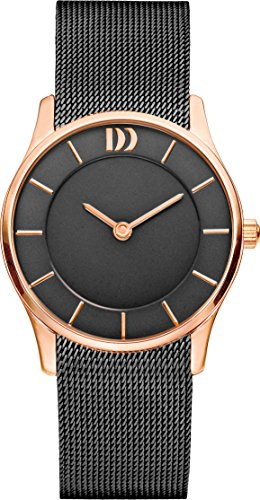 Danish Design Women's Quartz Watch with Black Dial Analogue Display and Black Stainless Steel Strap DZ120571