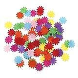 Ruiyele Filz-Blumen, Stoff-Verzierung, gemischte Farben, für Bastel- und Handarbeiten, 100 Stück Stil 1