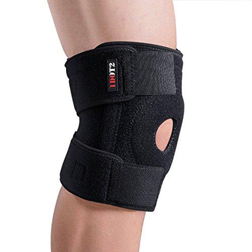 1DOT2 Kniebandage für Damen und Herren stabilisiert Meniskus Bänder und Patella beim Sport und im Alltag atmungsaktive Knieorthese für schmerzlinderung (XL 41-45cm/ 16,14