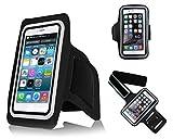 Lilware Sportarmband für Apple iPhone 6 und 6S. Schützende Leichtbau Activity Armhalter Armbänder Hülle mit Klettverschluss und Schweißbeständig Neopren-Material. Schwarz