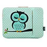 CoolBell 15,6 Zoll Laptop Hülse Tasche Sleeve Case Schutzhülle mit süßer Eule Ultrabook Sleeve Bag für 15-15,6 Inch Macbook Pro/Macbook Air/Acer/Asus/Dell/Lenovo/Damen/Herren
