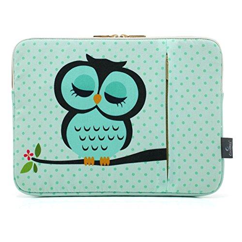 CoolBell 15,6 Zoll Laptop Hülse Tasche Sleeve Case Schutzhülle mit süßer Eule Ultrabook Sleeve Bag für 15-15,6 Inch Macbook Pro/Macbook Air/Acer/Asus/Dell/Lenovo/Damen/Herren