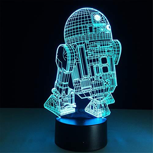 3D Illusion Lampe LED Nachtlicht Action Figure, 7 Farben blinkende Touch-Schalter Schlafzimmer Dekoration Beleuchtung für Kinder Weihnachtsgeschenk