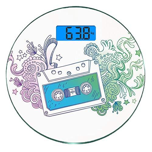 Escala digital peso corporal precisión Ronda Garabatear
