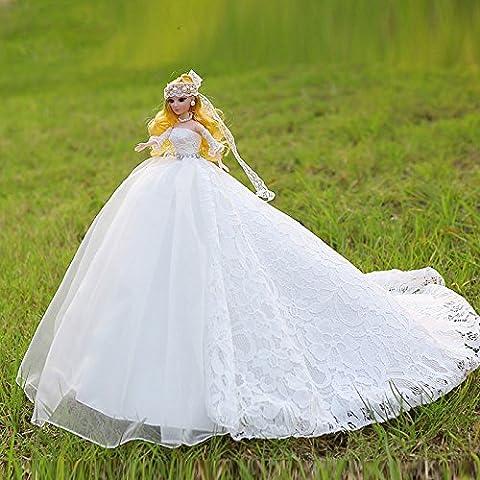 Zantec avec élégante Robe Princesse Robe de mariage poupée jouet poupée ameublement articles poupée Barbie