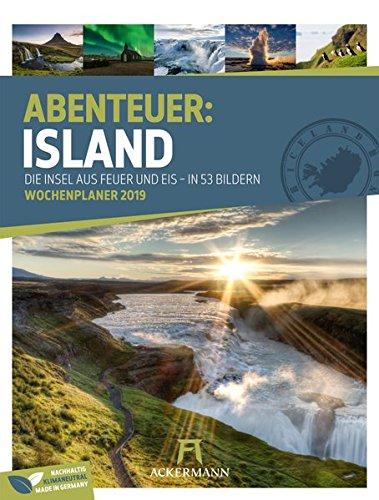 Island - Wochenplaner 2019, Wandkalender im Hochformat (25x33 cm) - Wochenkalender mit Rätseln und Sudoku auf der Rückseite