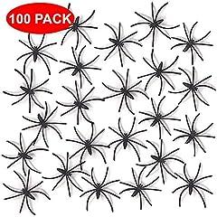 Idea Regalo - THE TWIDDLERS 200 ragni spaventosi - finti ragni Perfetti come decorazioni per feste di Halloween, regalini, ecc