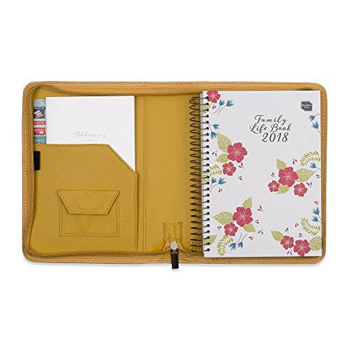 2018 Boxclever Press Family Life Book A5 diary in a faux leather cover. Start straight away and use until December 2018. Flexible diary layout with seven columns. Week-to-view. (Mustard Seed)