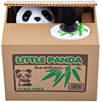 Preisvergleich für Treasure-House Stealing Coin Money Box Automatic Stealing Coin Cent Penny Cat Piggy Bank With Voice Christmas/Birthday Gift for Kids Child (Panda)