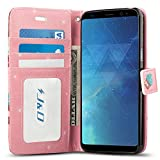 Galaxy S8 Case, J&D [Wallet Stand] [Slim Fit] Heavy Duty Protective Shock Resistant Flip Cover Wallet Case for Samsung Galaxy S8 - Cupcake