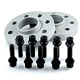 TuningHeads/Eibach .0425325.DK.SB-S90-2-15-001.3-E90 Spurverbreiterung, 30 mm/Achse + schwarze Radschrauben, 30 mm/Achse