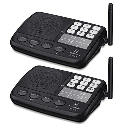 Hosmart LONG RANGE 7-Kanal Digital Wireless Intercom System f¨¹r Haus und B¨¹ro(2 Stationen)