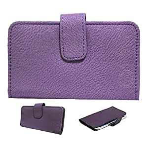 Jo Jo A8 G8 Leather Carry Case Cover Pouch Wallet Case For LG sprit Purple