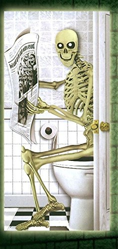 t, Skelett WC-Tür Cover-Halloween- Bog/Rest Raum ()