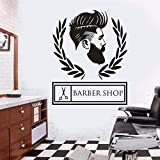 YuanMinglu Barber Studio Hair Logo Wall Wanddekoration Vinyl Aufkleber 50.4 cm x 63.6 cm