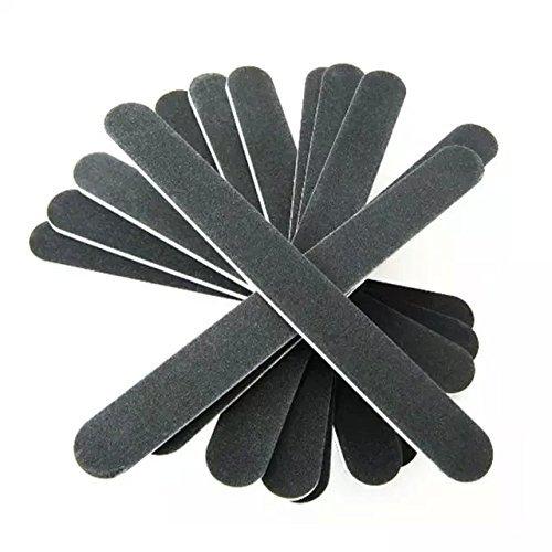 Goliton® Noir verni à ongle manucure de fichier 12PCS lime émeri.