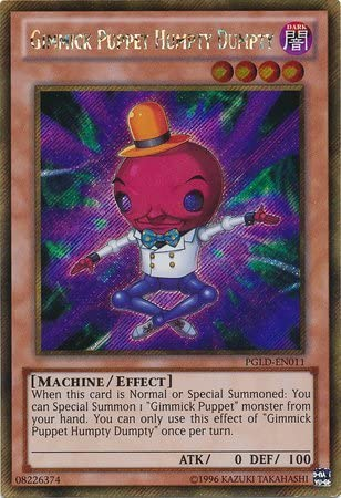 Yu-Gi-Oh! - Gimmick Puppet Humpty Dumpty (PGLD-EN011) - Premium Gold - Unlimited Edition - Gold Secret Rare by Yu-Gi-Oh! | Offre Spéciale