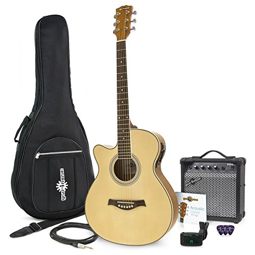 Guitarra Electroacustica Single Cutaway Zurda + Ampli de 15W Gear4music