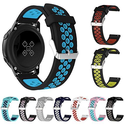 band , 20 / 22mm Silikon-Uhrenarmband für Samsung Galaxy Gear S3 42mm / 46mm Huawei GT Schwarzes Rosa 22mm ()