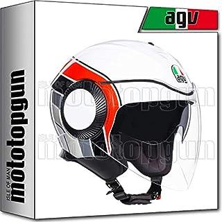 MOTOTOPGUN AGV 214821A2L0-001 JET ORBYT MULTI BRERA BIANCO-GRIGIO-ROSSO XS