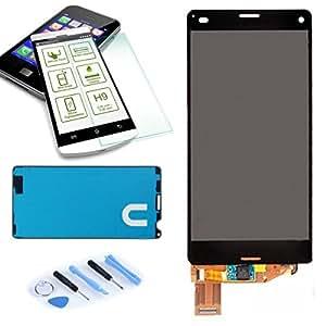 Affichage LCD écran tactile Autocollant Avant Noir pour Sony Xperia Z3 Compact D5803 Neuf réparation avec l'outil et nouveau Collage total