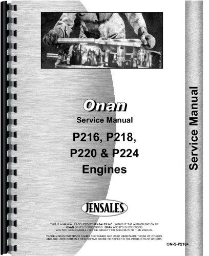 Onan P220 Engine Service Manual