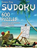 Famous Frog Sudoku 600 Puzzles With Solutions. 300 Easy and 300 Medium: A Beach Bum Sudoku Series Book: Volume 1