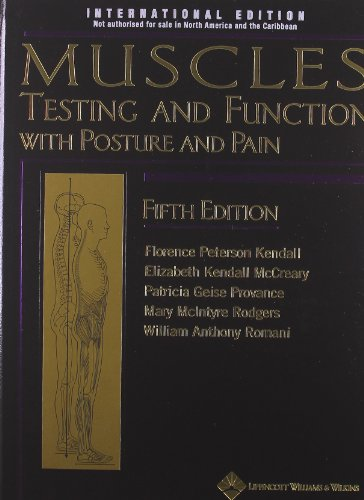 Muscle Testing & Function 5th par Florence Peterson Kendall