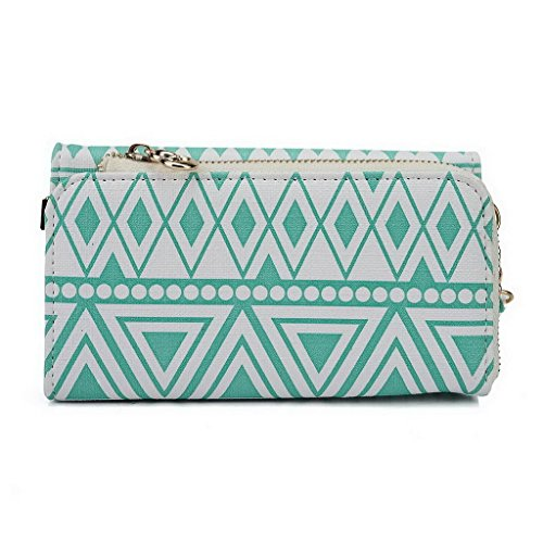Kroo Pochette/étui style tribal urbain pour Allview x1 Soul/V1 Viper S Multicolore - Brun Multicolore - White with Mint Blue