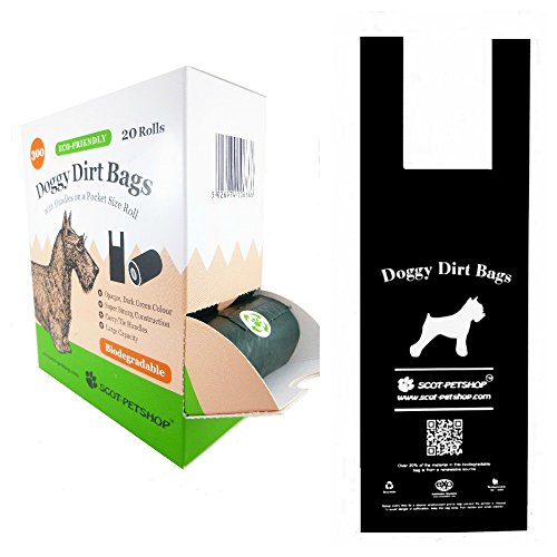 MultiWare Dog-Waste Bags with Dispenser and Lead Clips//Pet Biodegradable Poop Bags No Dispenser