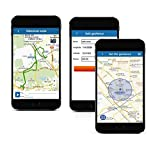 Mini GPS Echtzeit Tracker/ Kommunikator - Set mit Armband, kostenloser Web Tracking Service und iOS/ Android App, Lautsprecher, Mikrofon, Vibrationssensor, Geräuschsensor, akustische Überwachung
