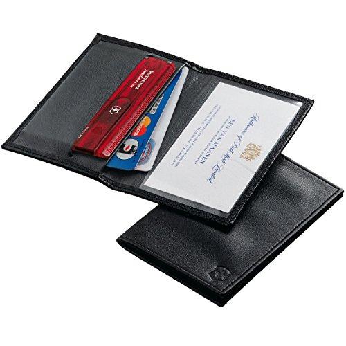 Funda de piel Victorinox Swisscard negro Funda de piel Victorinox Swisscard negro, con compartimento para tarjetas. Proteja su SwissCard cada día con la elegante funda protectora de piel. Funda de piel Victorinox Swisscard negro