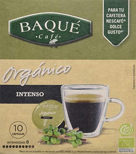 Cafés Baqué Orgánico Intenso - Paquete de 4 x 70 gr - Total: 280 gr