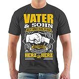 Männer und Herren Vatertag T-Shirt Vater & Sohn Größe S - 8XL