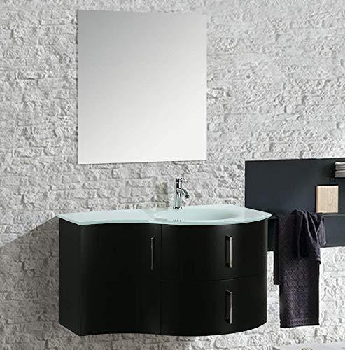 Import for me mobile arredo bagno kursal 104 cm sospeso nero destro moderno