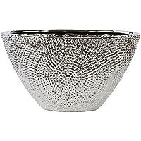 14 cm grau Hochzeitsdeko Hochzeit Deko Blumenvase Vase Vintage Perlen Federn ca