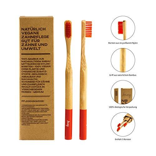 Amazy Bambus Zahnbürste (3 Stück)
