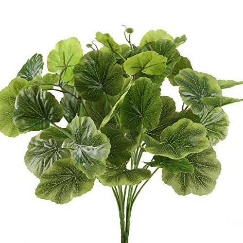 Nahuaa Künstliche Pflanzen 2 Stücke Kunstblumen grüne Balkonpflanzen Begonie Blätter für Dekoration Hochzeiten DIY Bouquet Büro Garten